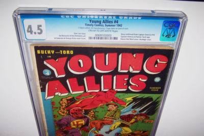 YOUNG ALLIES #4 CGC CAPTAIN AMERICA~CLASSIC RED SKULL-C