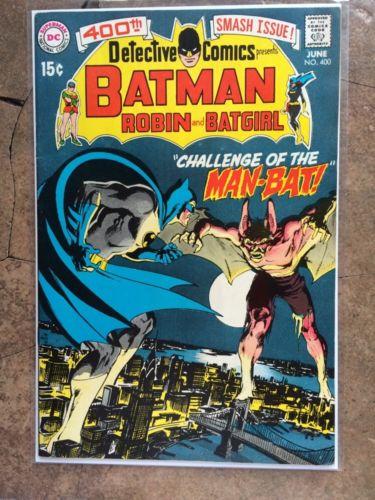 Batman Detective Comics 400 First Appearance Of Man Bat Neal Adams 8.0-8.5 Fine