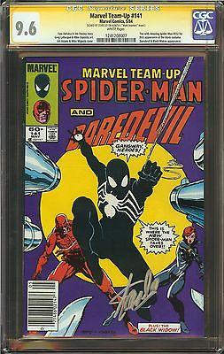 Marvel Team-Up #141 CGC 9.6 NM W SIGNED STAN LEE Daredevil Black Widow app