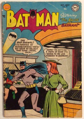 Batman #79 (OCT-NOV 1953) Vicki Vale in Bride of Batman G-/G