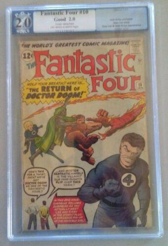 Fantastic Four #10 PGX 2.0  Silver Age Comic Book