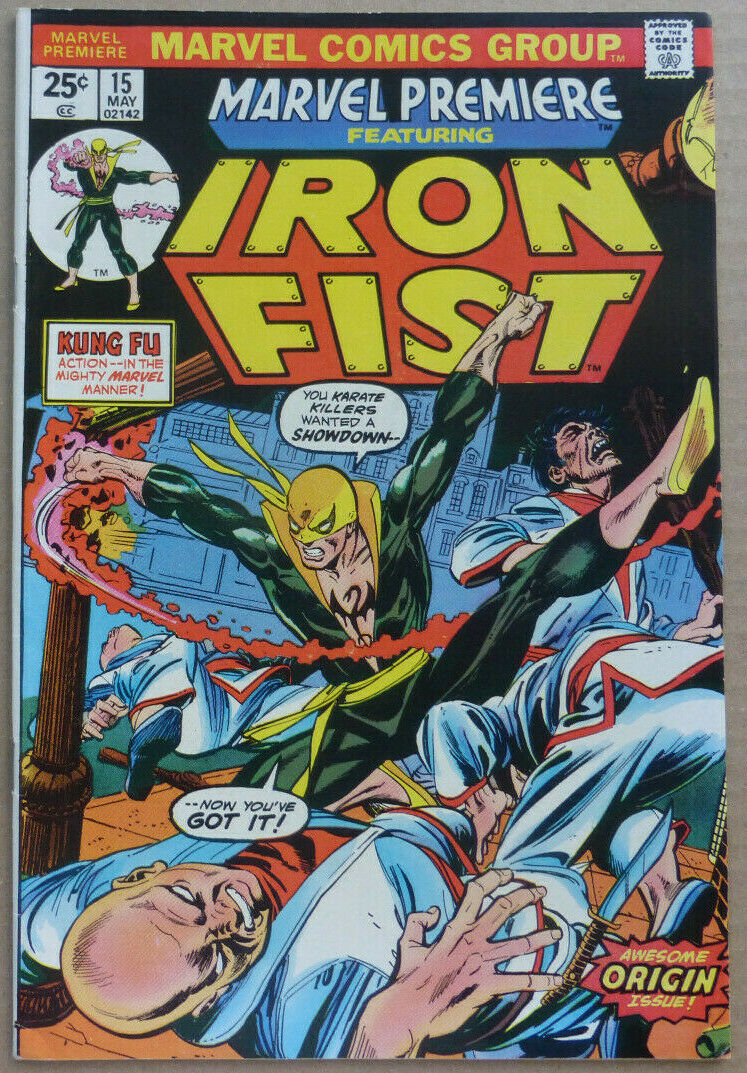 """MARVEL PREMIERE #15 Featuring 1st Appearance of """"IRON FIST"""", VF+"""