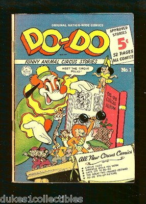 Do-Do Comics #1 Golden Age Scarce Near Mint