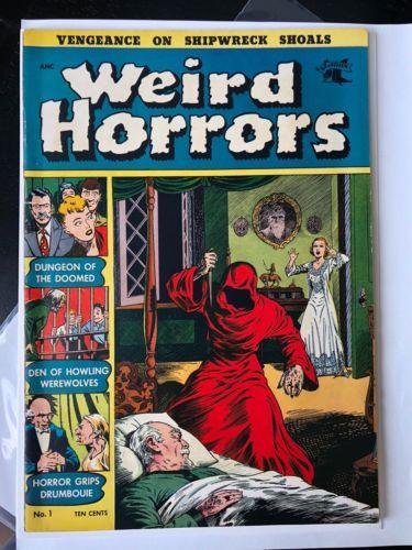 WEIRD HORRORS # 1 ~ 1950s PRE CODE HORROR COMIC BOOK! RARE HIGH GRADE VF+ MUST C