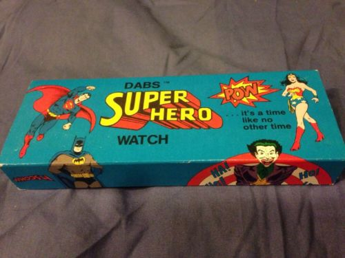 Dabs Vintage SuperMan Super Hero Watch MIB! 1977