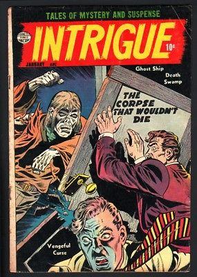 INTRIGUE #1-JACK COLE-PRE-CODE HORROR-1955