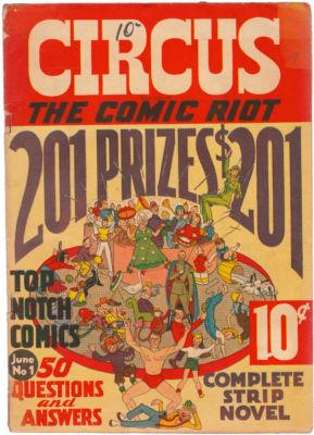 CIRCUS THE COMIC RIOT #1 1938 VERY GOOD SCARCE
