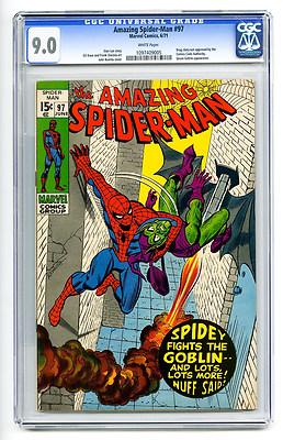 Amazing Spider-Man #97 CGC 9.0 Green Goblin Drug Story No Code Marvel Silver Age