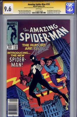 AMAZING SPIDER-MAN #252 CGC 9.6 SS STAN LEE, TOM DEFALCO & JIM SHOOTER NM+Mint