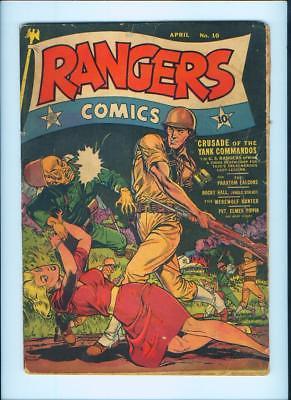 APRIL 1943 RANGERS COMICS NO. 10 COMIC BOOK – FICTION HOUSE