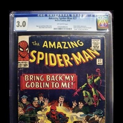 AMAZING SPIDERMAN #27 – CGC:0163588020 – 1965 – SILVER AGE COMIC – GREEN GOBLIN