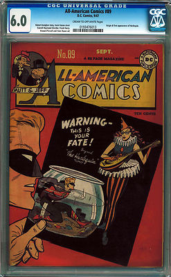 ALL-AMERICAN COMICS #89 CGC 6.0 CREAM – OFF-WHITE PAGES GOLDEN AGE GREEN LANTERN