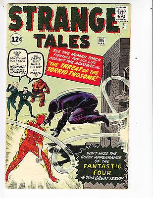Strange Tales 106 F+ (6.5) 3/63 Fantastic Four appearance! No Reserve!