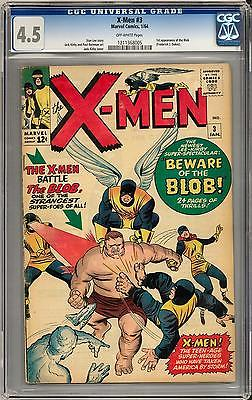 X-Men #3 CGC 4.5 (OW) 1st Appearance of the Blob