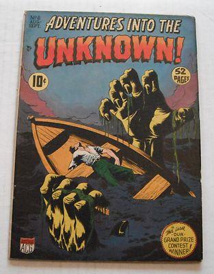 Adventures Into the Unknown # 6…FINE-…5.5 grade–R…1949 comic book