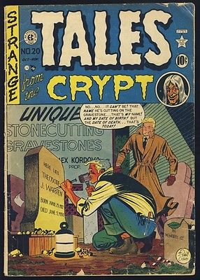 TALES FROM THE CRYPT #20 (#1) VG- VAL $210 EC 1950 KAMEN CRAIG INGELS FELDSTEIN